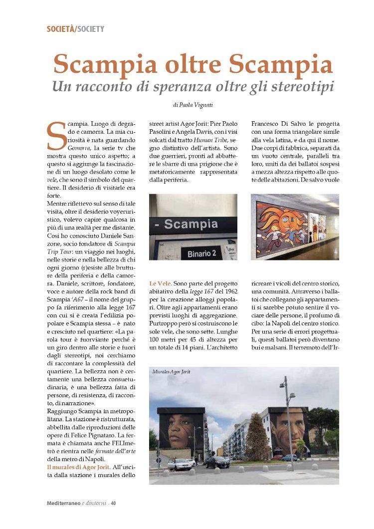 Mediterraneo e Dintorni articolo di Paola Vignati settembre 2019
