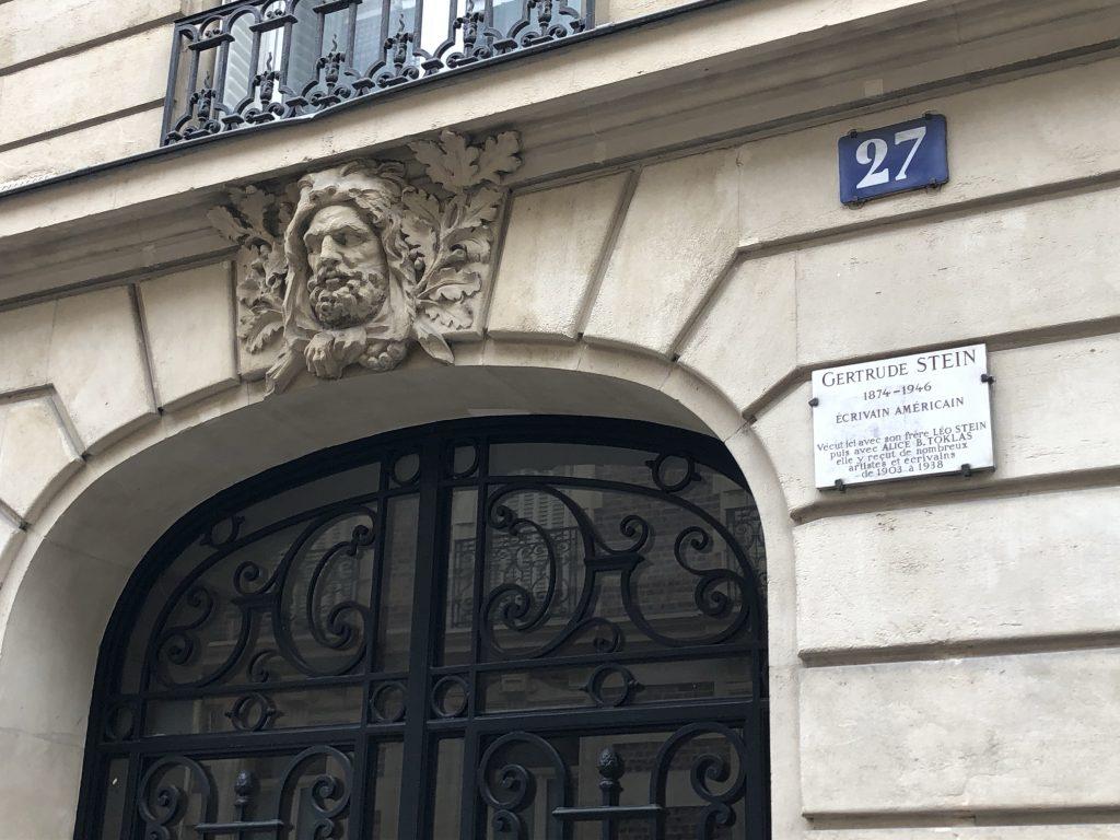 27 di rue des Fleures Gertrude Stein
