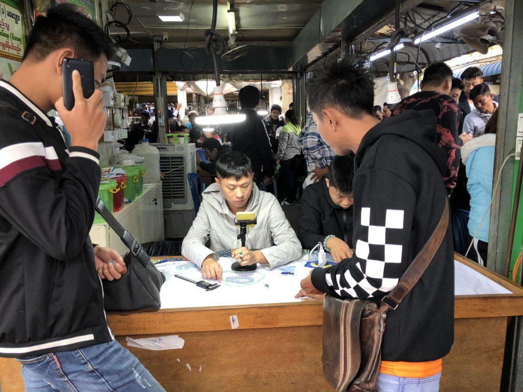 Il mercato della giada di Mandalay