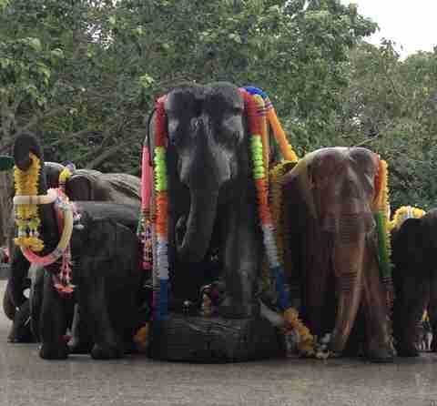 empio buddhista dedicato all'elefante
