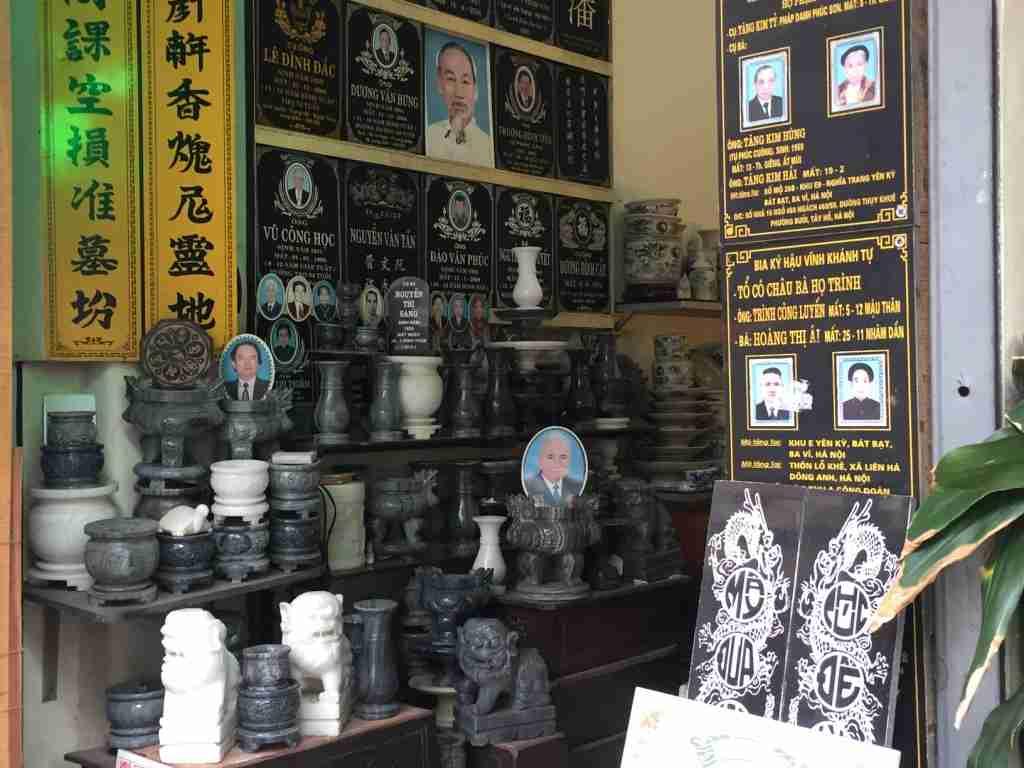 venditori di lapidi Il quartiere vecchio Hanoi