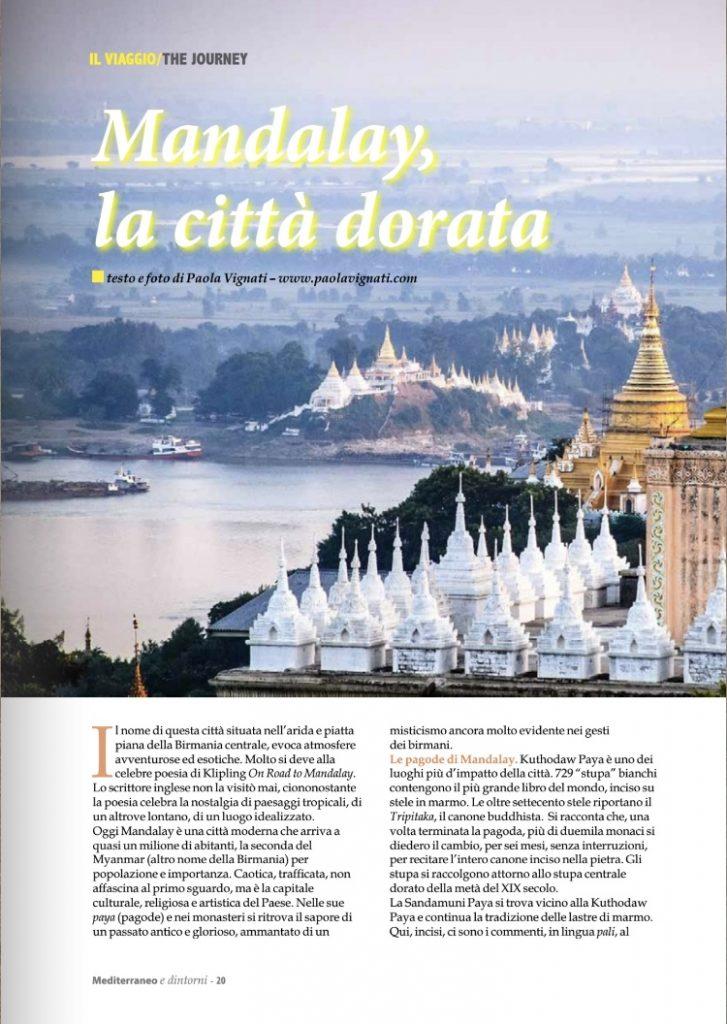 Articolo Mandalay la città dorata di Paola Vignati