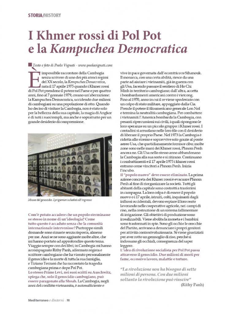 Mediterraneo e Dintorni articolo di Paola Vignati novembre 2020