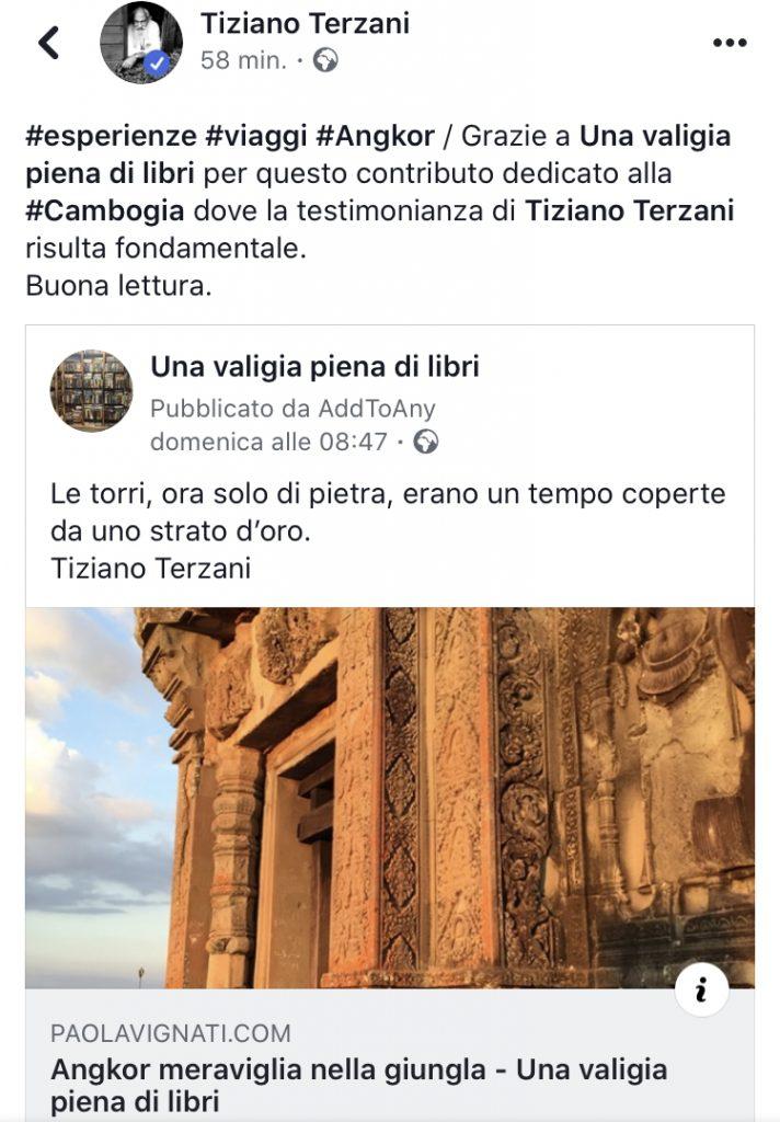 Tiziano Terzani articolo di Paola Vignati pubblicato